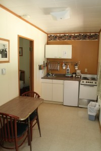 kitchennette with two bedrooms